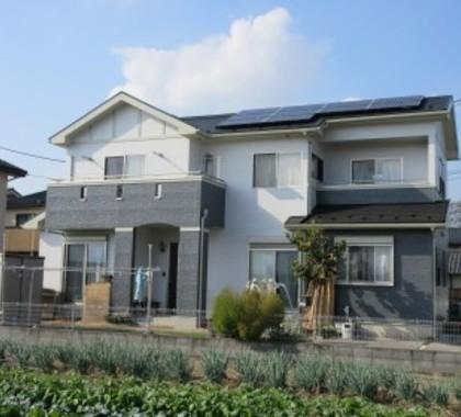 新築のような外観が復活しました!太陽光も設置~